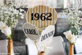 50th anniversary centerpieces golden 50th wedding anniversary