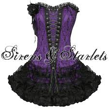 emo prom dress purple gothic emo burlesque corset lace prom