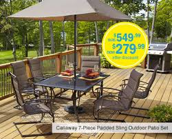 Bargain Patio Furniture Sets Meijer Callaway 7 Piece Patio Set On Clearance U2022 Bargains To Bounty