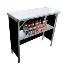collapsible high top table featuring our portable bar table partyrental eventrental