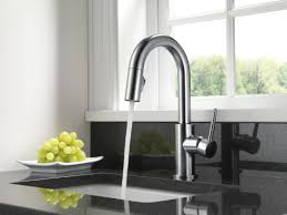 Kitchen Single Handle Faucet by Delta Trinsic Kitchen Single Handle Pull Down Bar Faucet