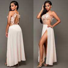 2017 party long wedding lace dress for women white summer dresses
