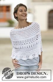 drops design poncho crochet drops poncho with lace pattern in the is