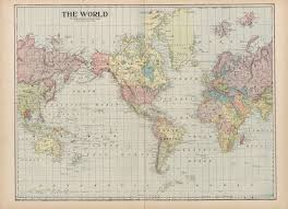 Geography Of Virginia World Atlas by Maps From The Monarch Standard Atlas Perry Castañeda Map