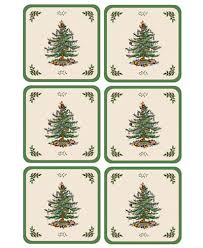 spode coasters set of 6 tree dinnerware dining