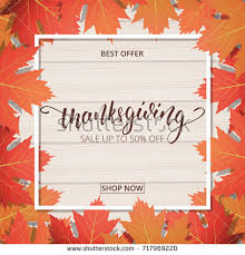 thanksgiving day sale banner lettering stock vector 717969220