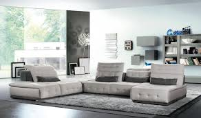 Sectional Sofa Modular Daiquiri Italian Modern Light Grey Grey Fabric