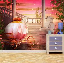 fantasy princess carriage custom wallpaper mural printing