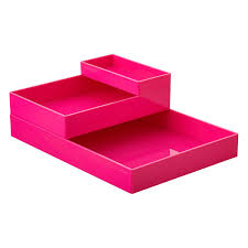 Pink Desk Organizers And Accessories by Pink Poppin Accessory Trays The Container Store