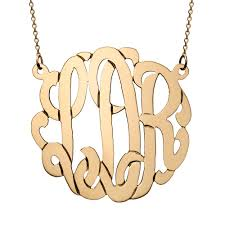 monogram necklaces gold 14k solid gold monogram necklace s addiction