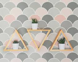 peel and stick geometric cloud wallpaper removable and
