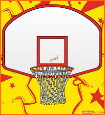 how to draw a basketball goal pencil art drawing