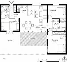 plan de maison plain pied 2 chambres chambre fresh plan maison plain pied 4 chambres garage high