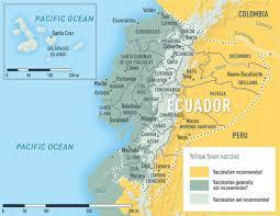 Galapagos Map Ecuador Including The Galápagos Islands Cdc Yellow Book