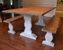 Kitchen Tables And Benches by Farm Table And Bench Etsy
