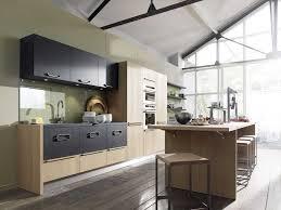 cuisine bois et gris étourdissant cuisine bois et gris avec decoration cuisine 2017
