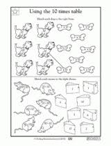 3rd grade math worksheets multiplying and dividing by 10 3rd