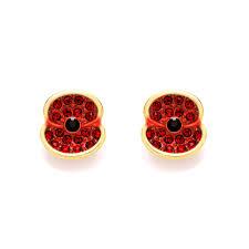 poppy earrings the poppy collection enamel poppy ring buckley london