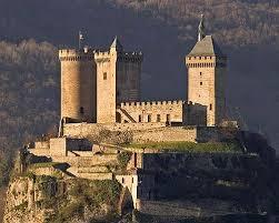 historical castles château de foix well preserved medieval cathar castle in france