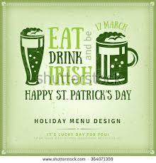 Happy St Patricks Day Greeting Card Stock Vector 364071359