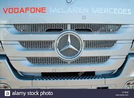 mclaren truck detail vodafone mclaren mercedes truck formula 1 testing sessions