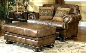 Armchair Ottoman Design Ideas Brown Leather Chair And A Half Rustic Leather Sofas Rustic Leather