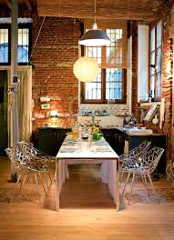 apartments captivating exposed brick kitchen home design and