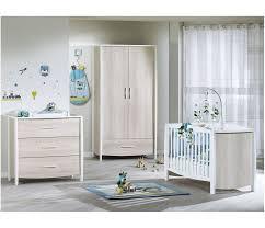 sauthon chambre bebe bébé 120x60 bois blanc