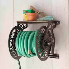 liberty garden aluminum wall mounted hose reel walmart com