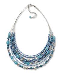 blue beads necklace images Blue bead multilayer necklace blue bead multilayer necklace orvis jpg