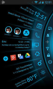 android theme blue light toucher theme go android apps on play