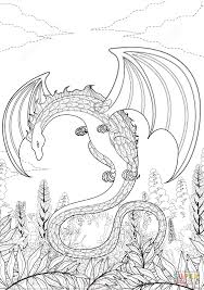 zentangle dragon coloring page free printable coloring pages