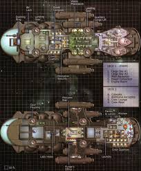 Starship Floor Plan Hwk 290 And Star Liner Deck Plans Star Wars Edge Of The Empire