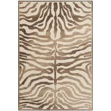 Brown Zebra Area Rug World Menagerie Linden Zebra Brown Area Rug Reviews Wayfair