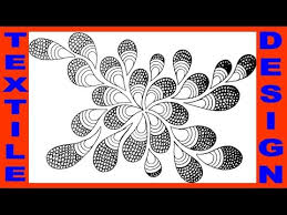 Flower Designs On Paper How To Draw Textile Design On Tracing Paper Youtube