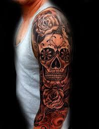with sugar skull sleeve tattoos guys tattoos i like