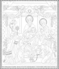 lady christians free hand drawn catholic coloring