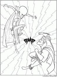 coloring page megamind and metro man