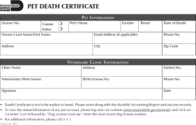 download dog death certificate template for free tidyform