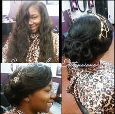 sew in with elegant updo perfect for a prom wedding or any other