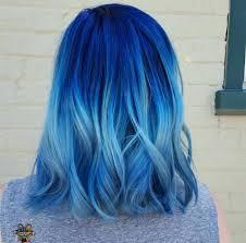 cabelo colorido ombré azul degradê hair dye pinterest lob