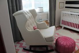 bedroom gorgeous tufted rocking chair for baby nursery with round