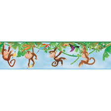 york wallcoverings inspired by color monkey wallpaper border