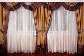 Gorgeous Curtains And Draperies Decor Luxury Drapes Beautiful White Silk And Brown Curtain For