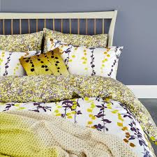 boston ivory yellow floral tendrils bedding at bedeck 1951