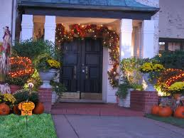 Outdoor Decorating Ideas by Cool Halloween Outdoor Fall Decorating Ideas With Various Trees