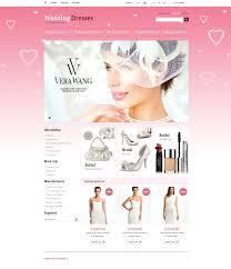 bridal websites website template 43759 wedding dresses store custom website