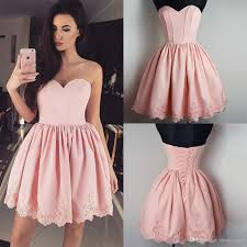 pretty dresses pretty pink homecoming dresses lace up back pleats lace