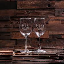 his hers wine glasses his and hers anniversary wine glasses distinctive goods