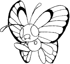how to draw butterfree from pokemon with step by step lesson how